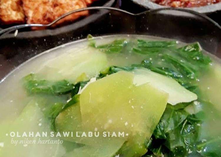 Cara memasak Sayur olahan sawi dan labu siam lezat