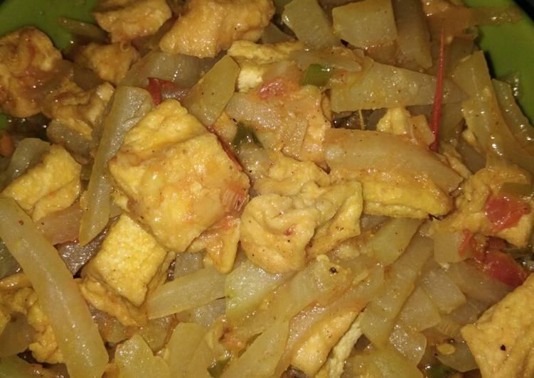 Cara memasak Sayur Labu Siam Tahu Tumis yang bikin ketagihan