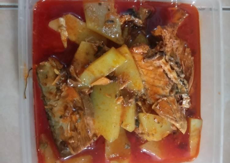 Resep memasak Sayur labu siam ikan makarel istimewa