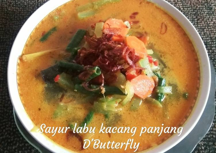 Cara memasak Sayur labu Siam kacang panjang (jipan) yang bikin ketagihan