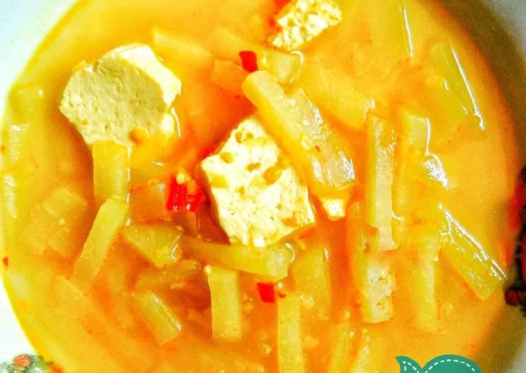 Resep: Sayur labu siam kuah kuning simple yang bikin ketagihan