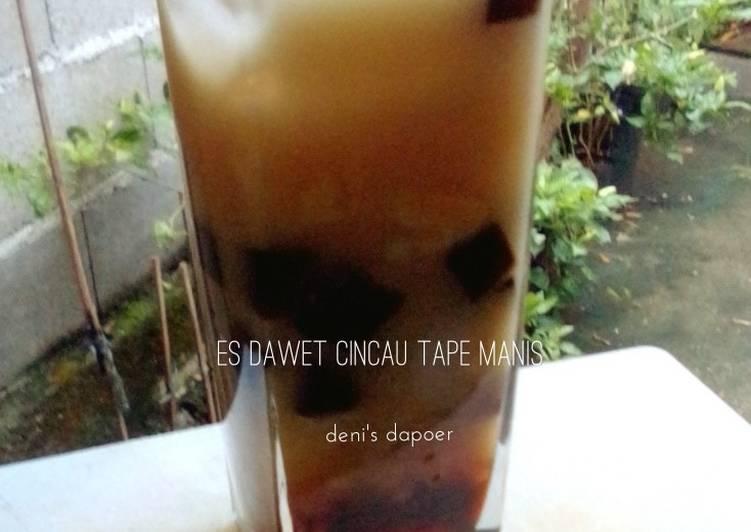 Resep membuat Es dawet cincau tape #BikinRamadhanBerkesan sedap