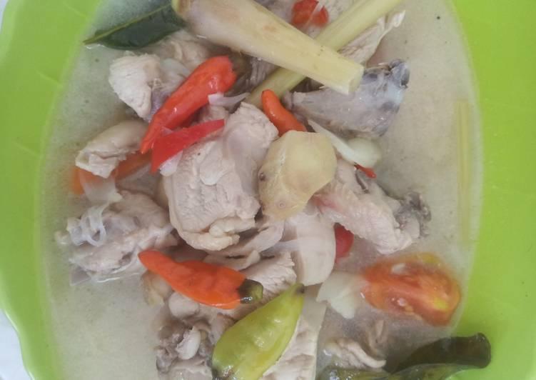 Cara memasak Garang asem ayam (tanpa blimbing wuluh) enak