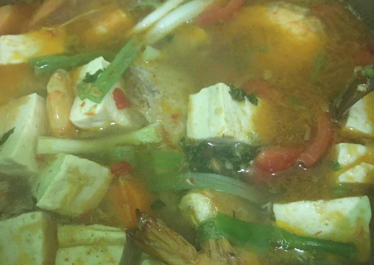 Cara Mudah memasak Sup ikan asam pedas yang menggugah selera