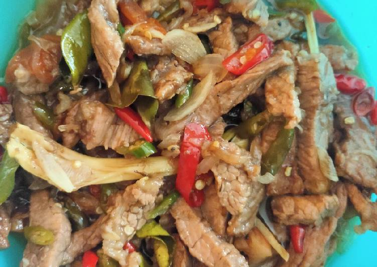 Cara memasak Garang Asem Daging Sapi ala resto