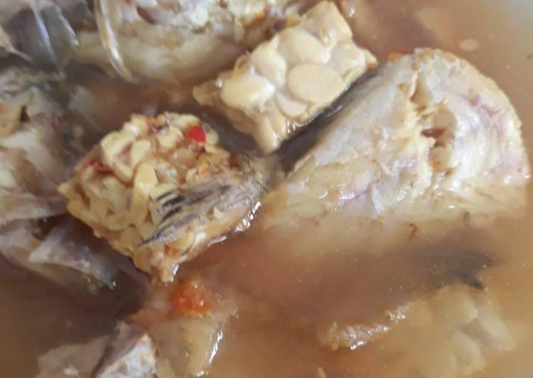 Resep: Garang asem ikan kerapu campur tempe lezat