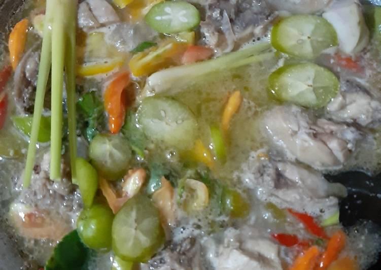 Resep mengolah Garang asem tanpa santan enak