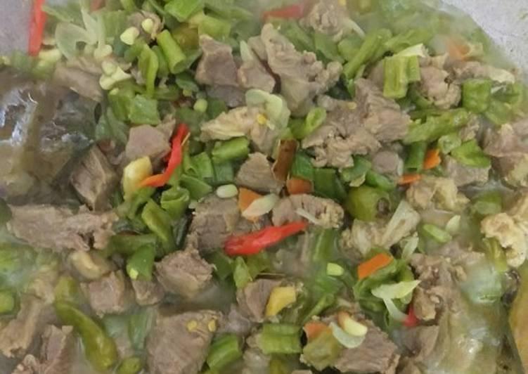 Garang asam daging+kacang panjang #menuramadhan