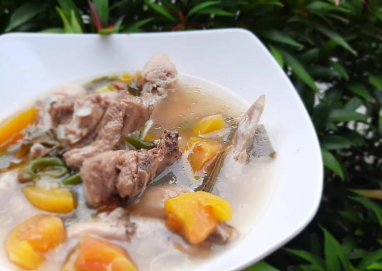 Resep memasak Garang asem ayam tanpa bungkus daun pisang sedap