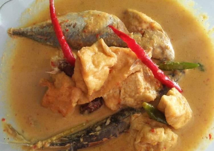 Resep membuat Gulai ikan tahu goreng yang menggugah selera