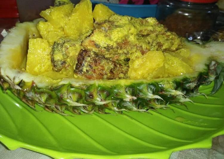 Resep: Gurami goreng gulai kuning dengan nenas yang bikin ketagihan