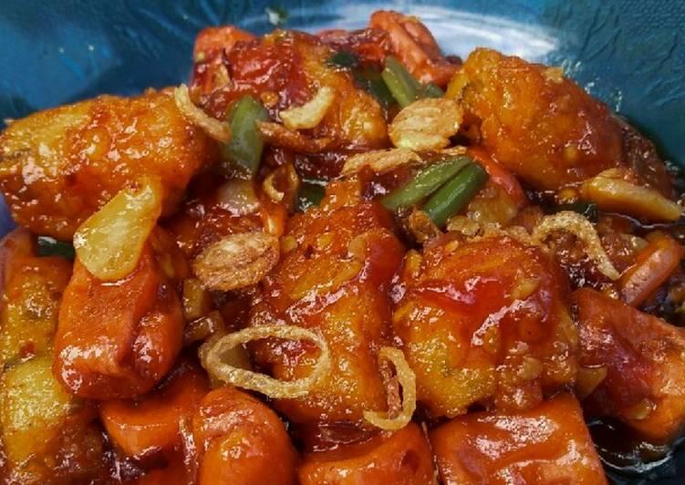 Resep: Nugget sosis asam manis pedas