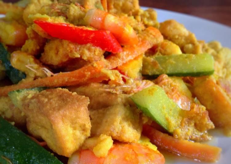 Resep memasak Udang tahu acar kuning lezat