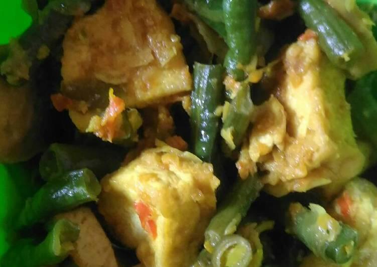 Cara Mudah memasak Acar kuning tahu kacang panjang enak