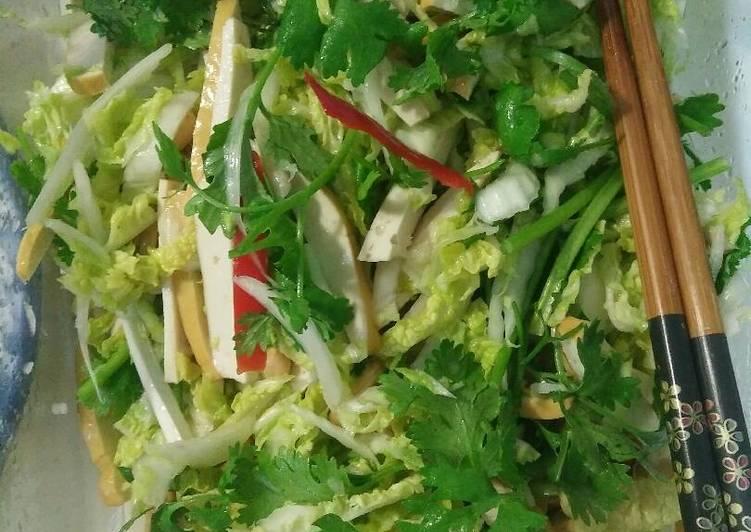 Resep: Acar sawi putih daun ketumbar lezat