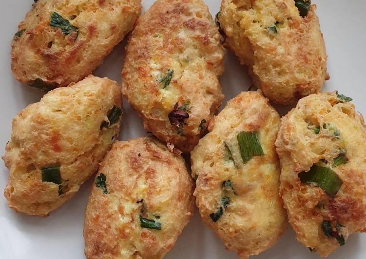 Cara memasak Perkedel Tahu Ayam Wortel Labu yang menggugah selera