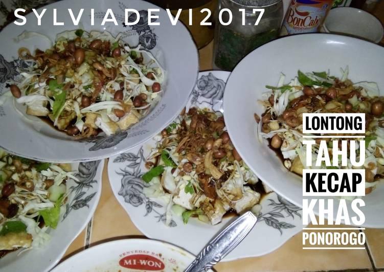 Resep membuat Lontong/Nasi Tahu Kecap khas Ponorogo enak