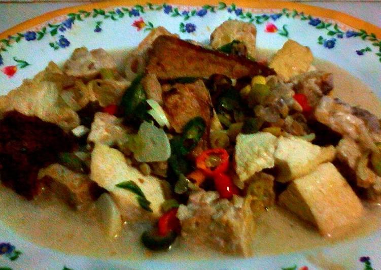 Resep: Ikan tongkol, tahu, tempe, kuah santan lezat