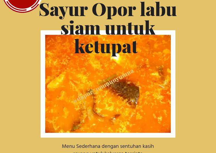 Cara mengolah #5. Sayur opor labu siam untuk ketupat sedap