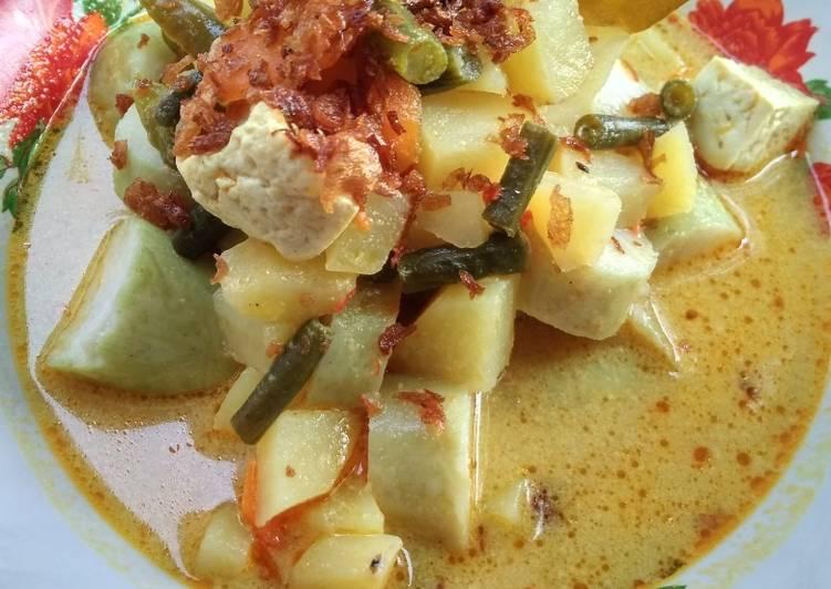 Resep: Sayur ketupat #dewi1 istimewa