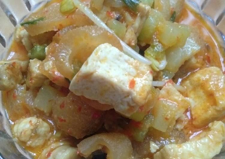 Resep: Ketupat Sayur labu siam lezat