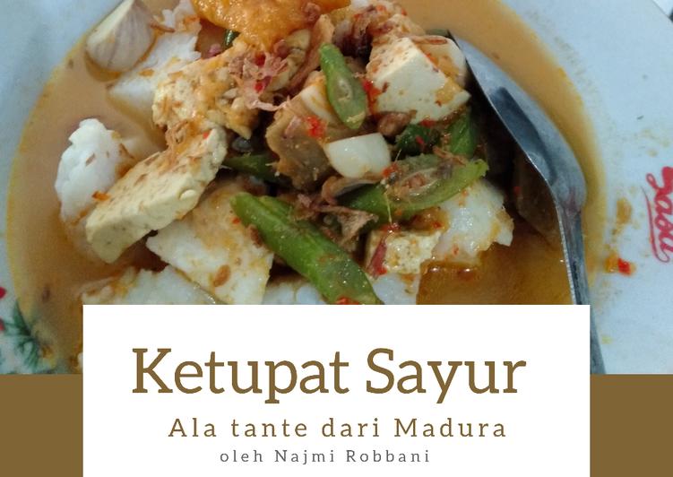 Resep: Ketupat Sayur segar ala Tante dari Madura enak