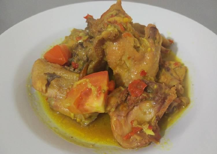 Cara memasak Ayam bumbu tengkleng yang bikin ketagihan