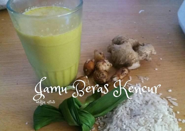 Resep memasak Jamu Beras Kencur (#Pr_RecookMinTradisional) yang bikin ketagihan
