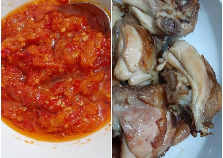 Cara Mudah memasak Ayam pop yang menggoyang lidah