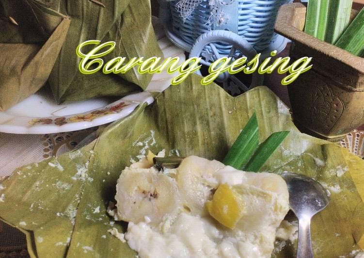 Resep: Carang Gesing pisang nangka (Barongko) ala resto