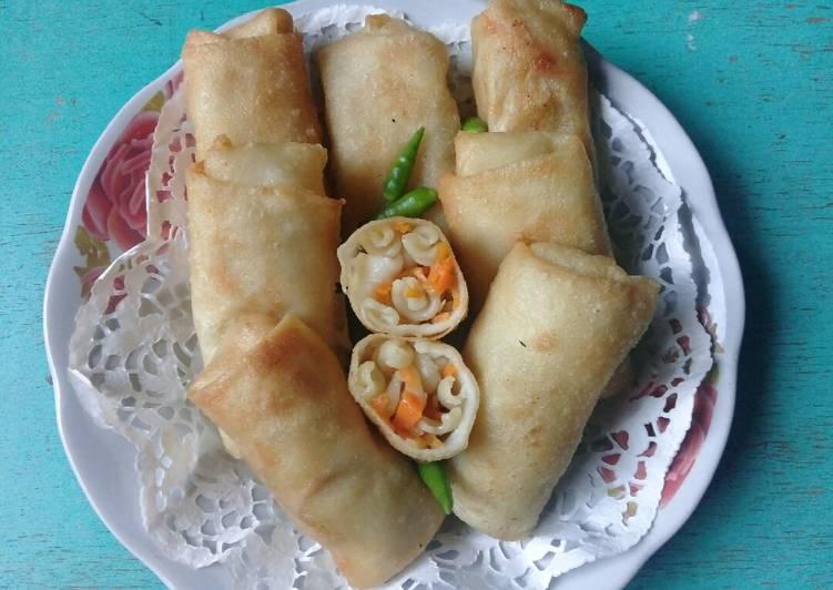 Resep mengolah Sosis solo sayur makaroni enak