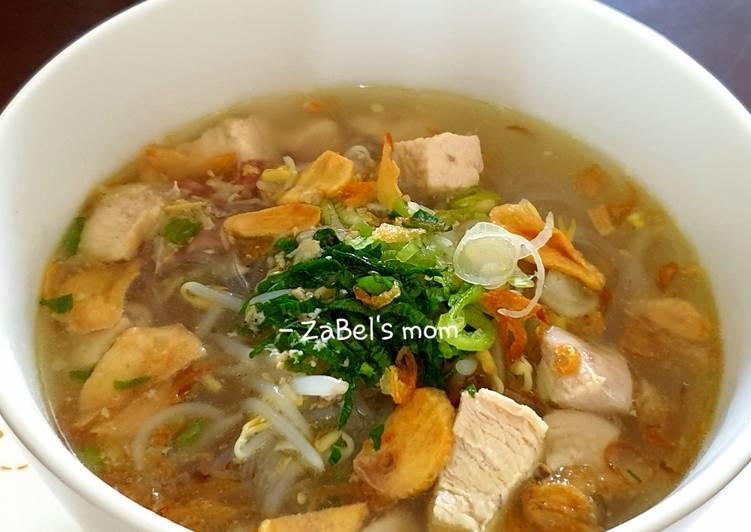 Resep: Soto Ayam Bening ala Soto Gading Solo lezat