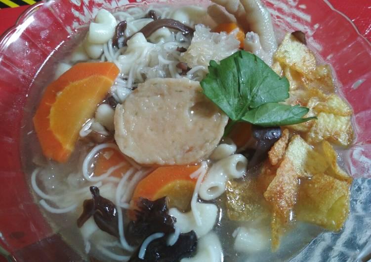 Cara Mudah memasak Sup kuah timlo