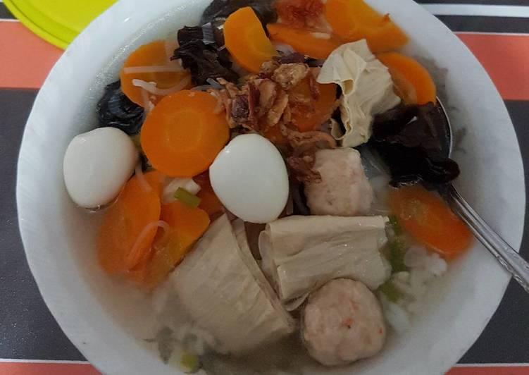 Resep: Sup Timlo Bakso Udang yang menggugah selera
