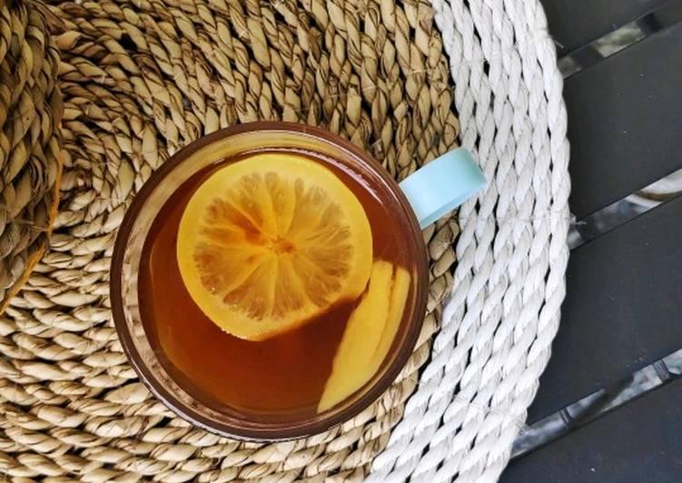 Cara Mudah membuat Wedang Jahe Sereh Lemon yang menggugah selera
