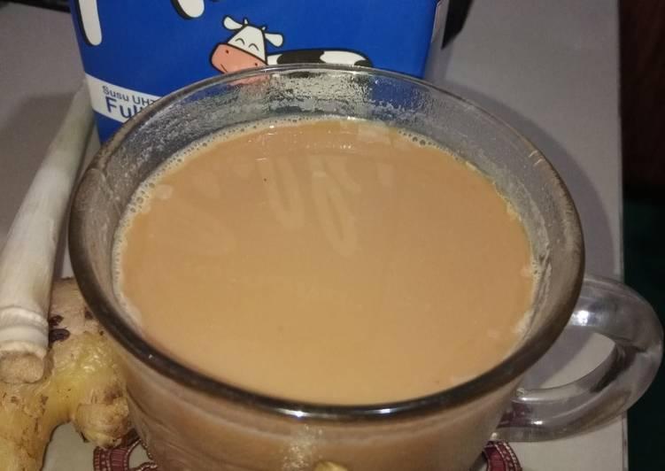 Resep: Wedang jahe susu istimewa