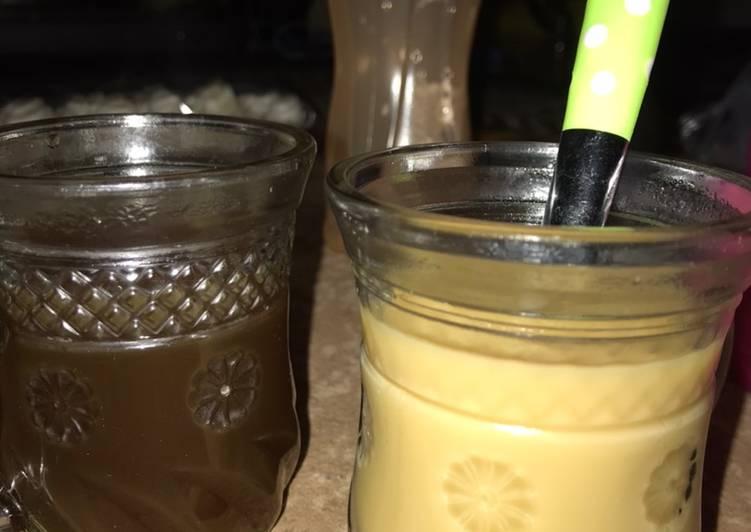 Resep: Wedang jahe ori dan susu enak