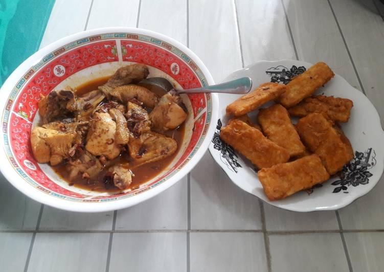 Cara Mudah mengolah Gulai Ayam dan Tempe Goreng tepung Ala2 Istri baru belajar masak istimewa