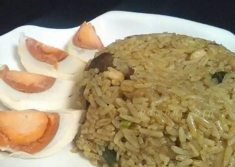 Cara membuat Nasi goreng gule istimewa