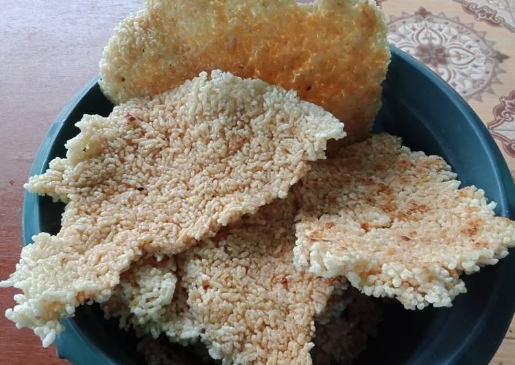 Cara Mudah memasak Intip goreng (rice crispy) enak