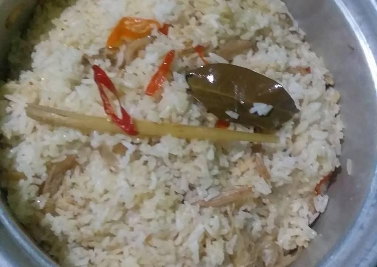 Cara memasak Nasi liwet udang rebon sedap