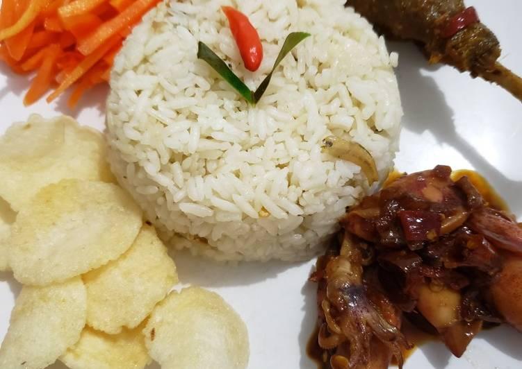 Cara memasak Nasi liwet magic com praktis no ribet enak