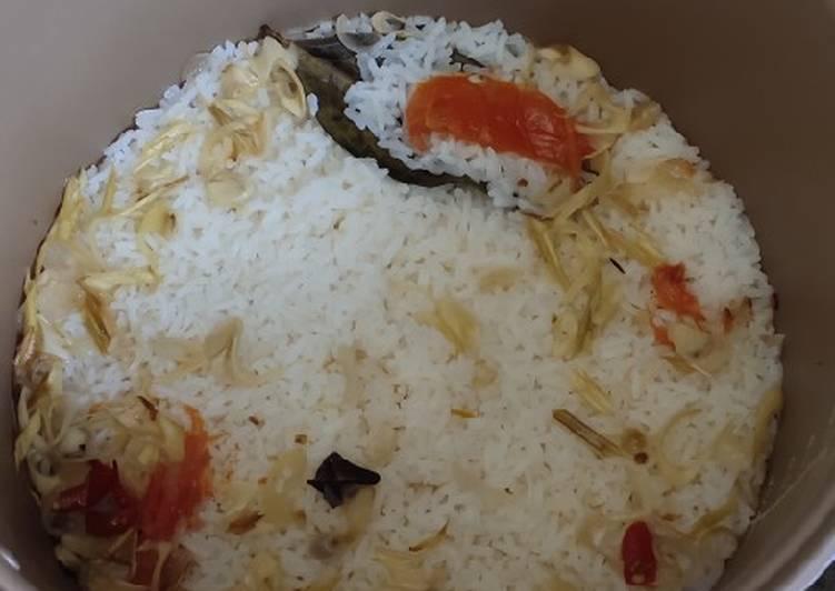 Cara membuat Nasi Liwet Sederhana (rice cooker) yang bikin ketagihan