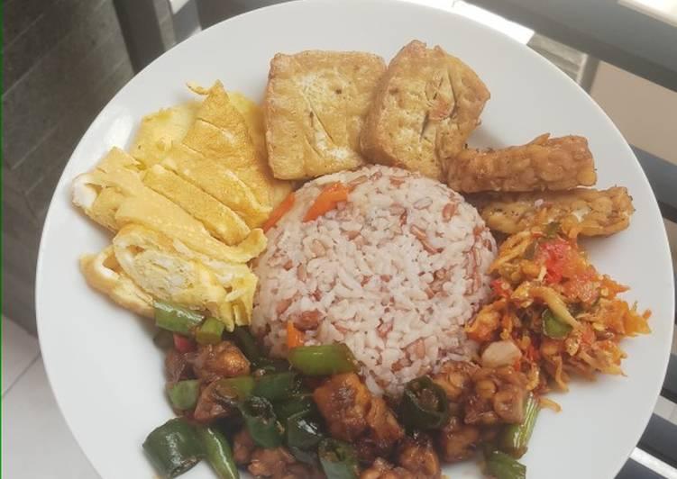 Cara memasak Nasi Liwet Fibercreme Diet Sederhana Rice Cooker yang bikin ketagihan