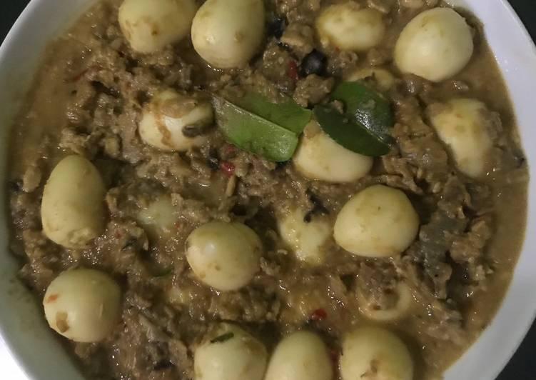 Resep: Sambel tumpang telur puyuh yang menggugah selera