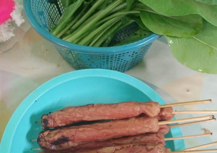 Cara memasak Sate Sos Goreng Renyuk Bujang Tingting yang bikin ketagihan
