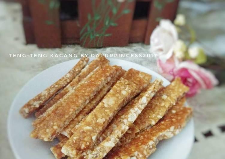 Resep mengolah Teng-teng kacang ala resto