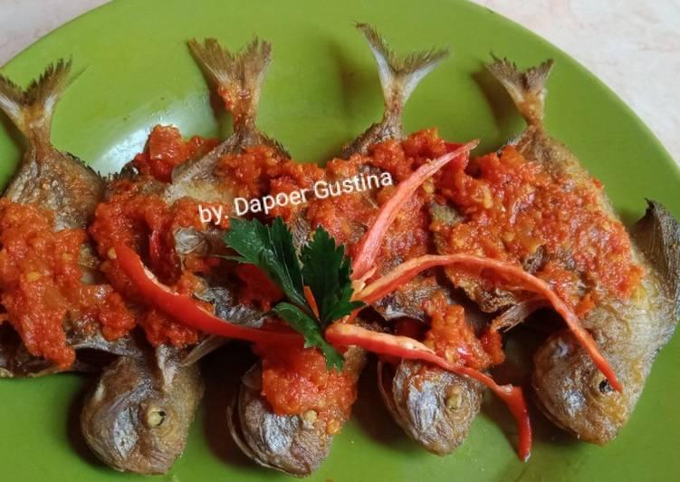 Resep: Ikan bawal goreng balado sedap
