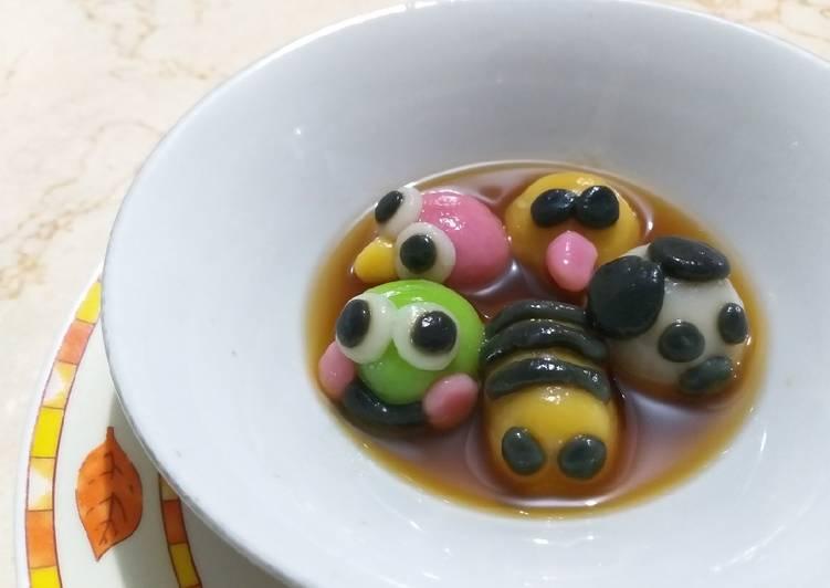 Resep: Wedang ronde gula merah karakter+step by step istimewa
