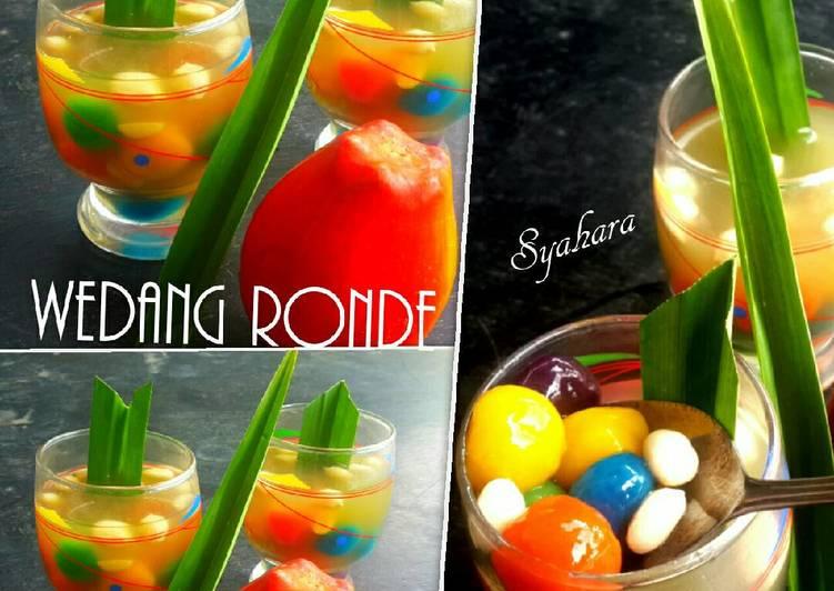 Cara Mudah membuat Wedang Jahe Ronde Rainbow #pr_RecookMinumantradisional sedap